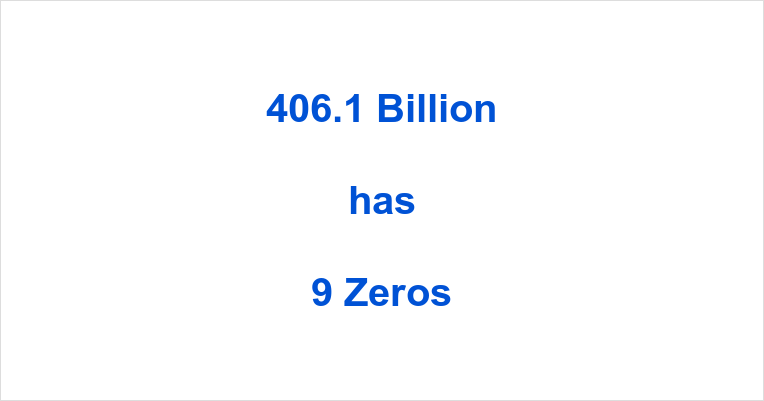 How many Zeros in 406.1 Billion?