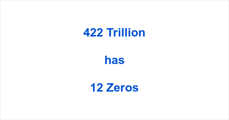 How many Zeros in 422 Trillion?