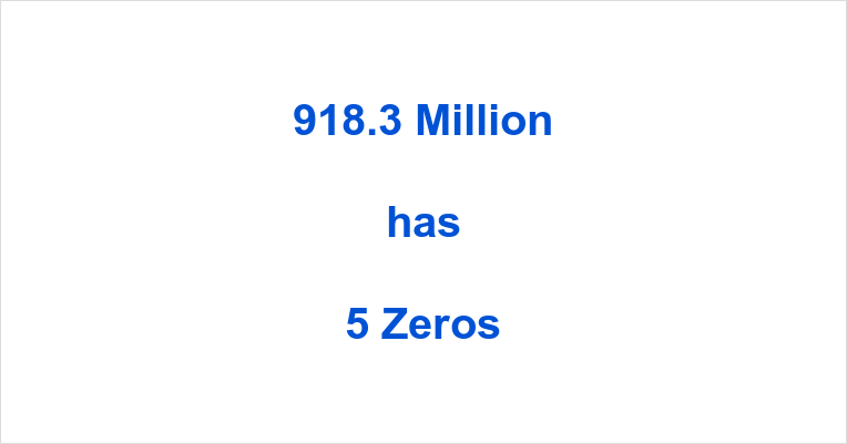 How many Zeros in 918.3 Million?